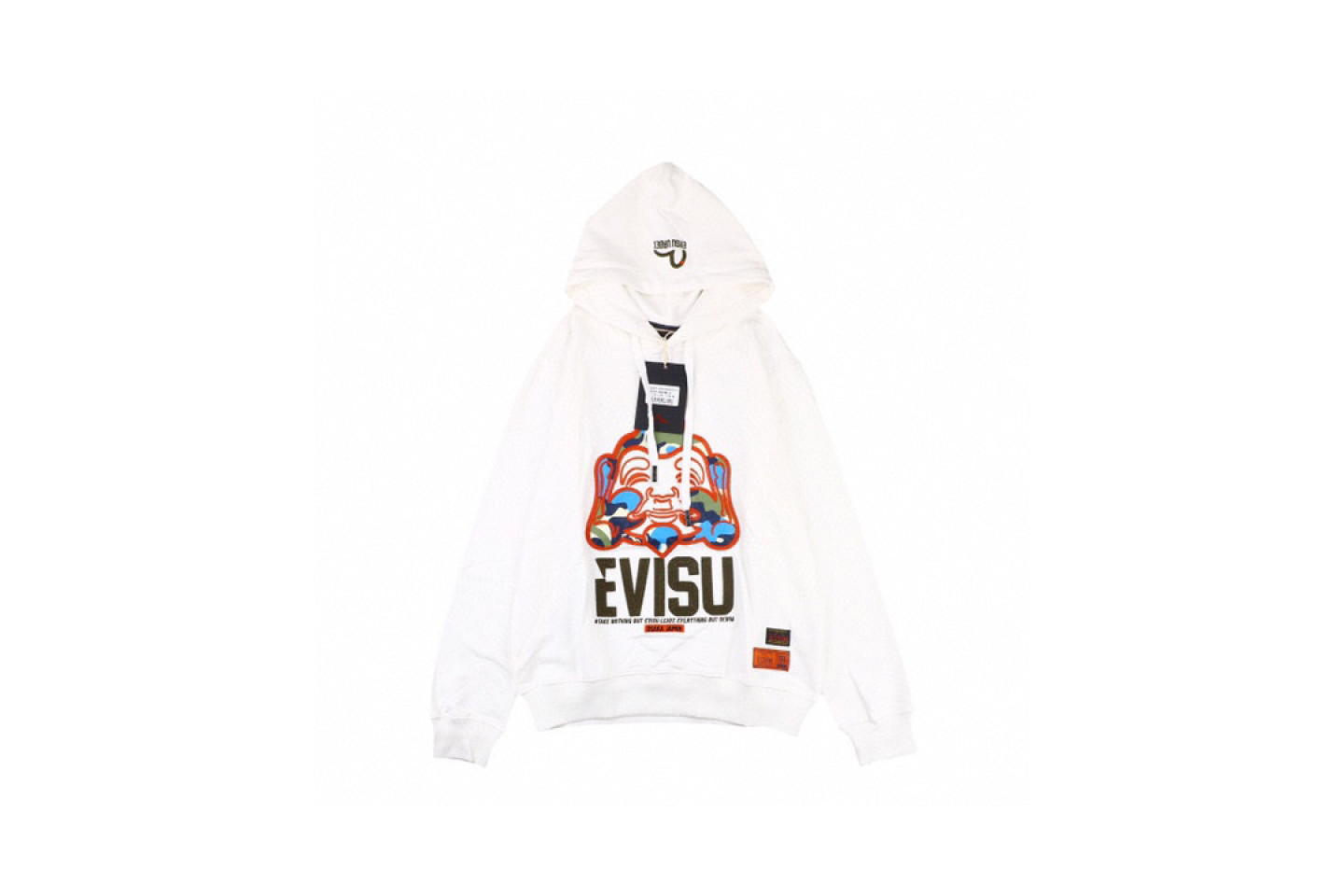 "Jacket Evisu 20fw camouflage buddha head embroidered sweatshirt ""White"" 1 evisu_20fw_camouflage_buddha_head_embroidered_sweatshirt_white_1"