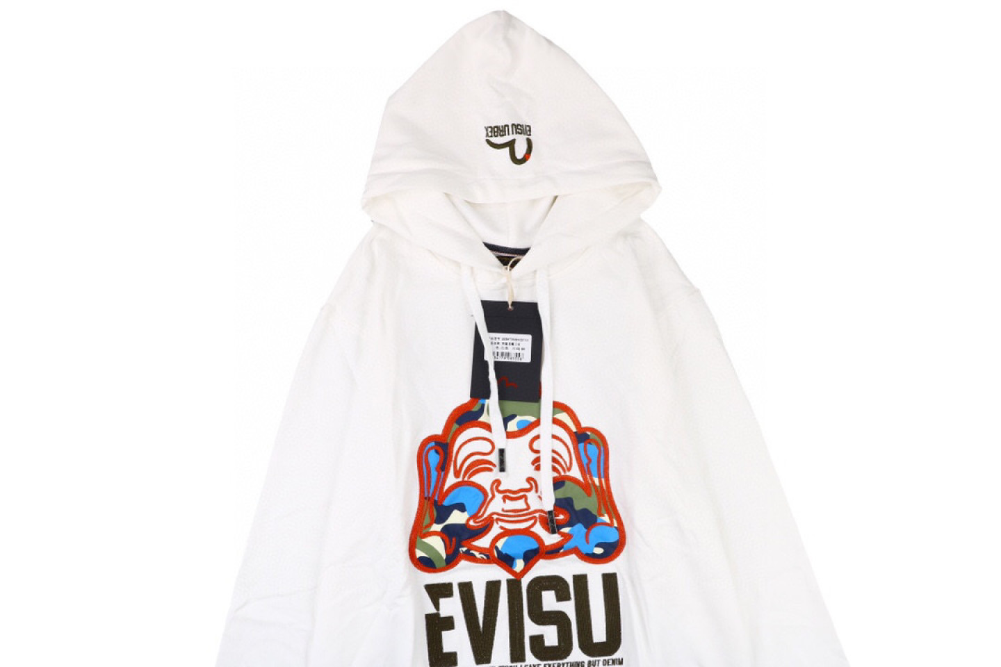 "Jacket Evisu 20fw camouflage buddha head embroidered sweatshirt ""White"" 2 evisu_20fw_camouflage_buddha_head_embroidered_sweatshirt_white_2"