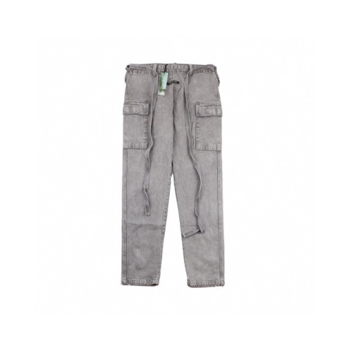 Fear of god 6th season six main line washed gray overalls trousers jeans