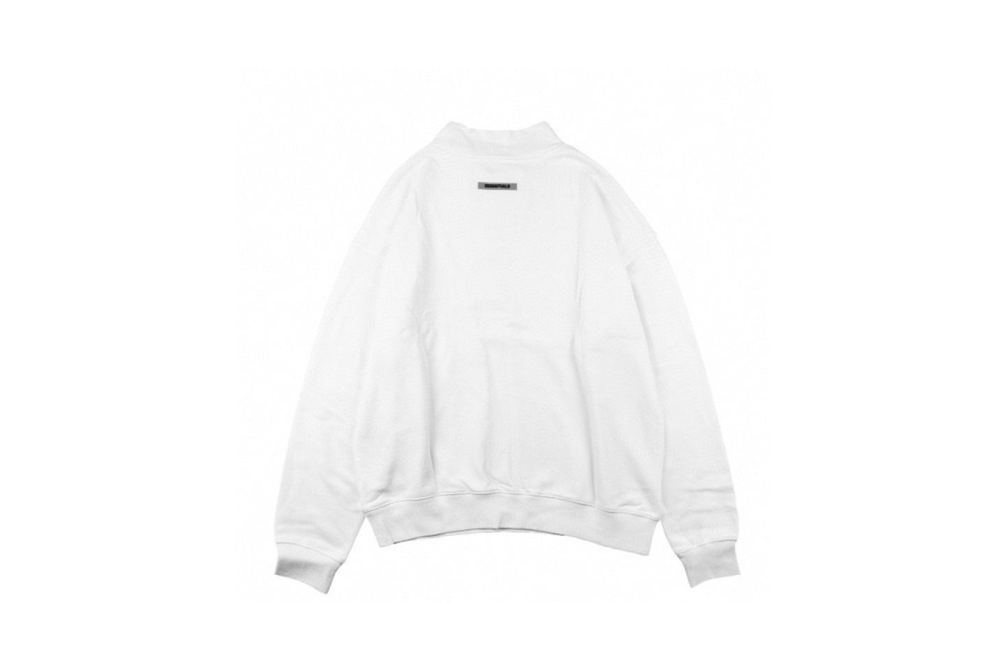"""Shirt Fear Of God double line letter reflective half high collar sweater """"White"""" 5 fear_of_god_double_line_letter_reflective_half_high_collar_sweater_white_5"""