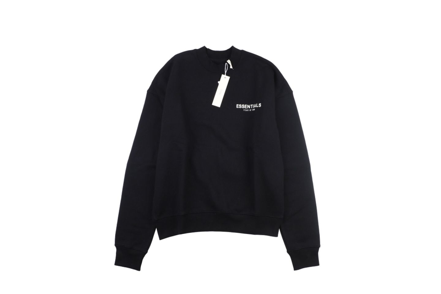 """Shirt Fear Of God Essential double line crew neck sweater """"Black"""" 1 fear_of_god_essential_double_line_crew_neck_sweater_black_1"""