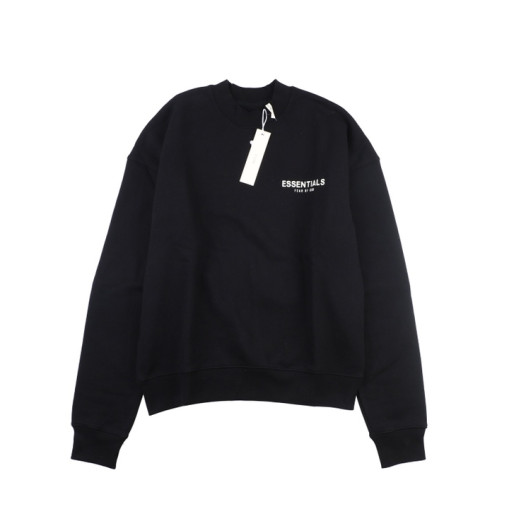 Fear Of God Essential double line crew neck sweater Black