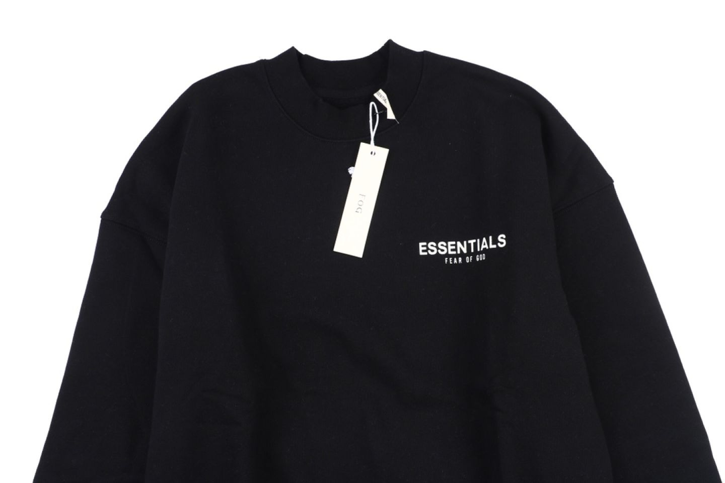 """Shirt Fear Of God Essential double line crew neck sweater """"Black"""" 2 fear_of_god_essential_double_line_crew_neck_sweater_black_2"""