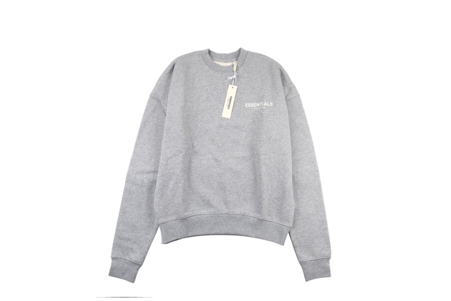 "Shirt Fear Of God Essential double line crew neck sweater ""Grey"" 1 fear_of_god_essential_double_line_crew_neck_sweater_grey_1"