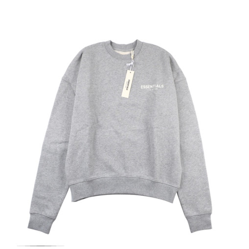 Fear Of God Essential double line crew neck sweater Grey