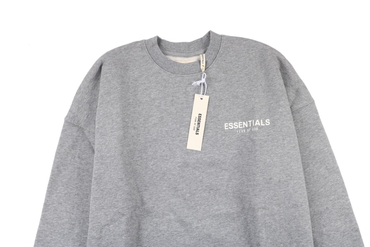 "Shirt Fear Of God Essential double line crew neck sweater ""Grey"" 2 fear_of_god_essential_double_line_crew_neck_sweater_grey_2"