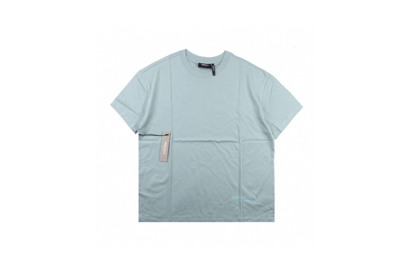 Shirt FEAR OF GOD ESSENTIALS 6 multi-line 3M reflective short-sleeved T-shirt mint 1 fear_of_god_essentials_6_multi_line_3m_reflective_short_sleeved_t_shirt_mint__1