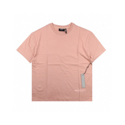 FEAR OF GOD ESSENTIALS 6 multiline 3M reflective shortsleeved Tshirt rose