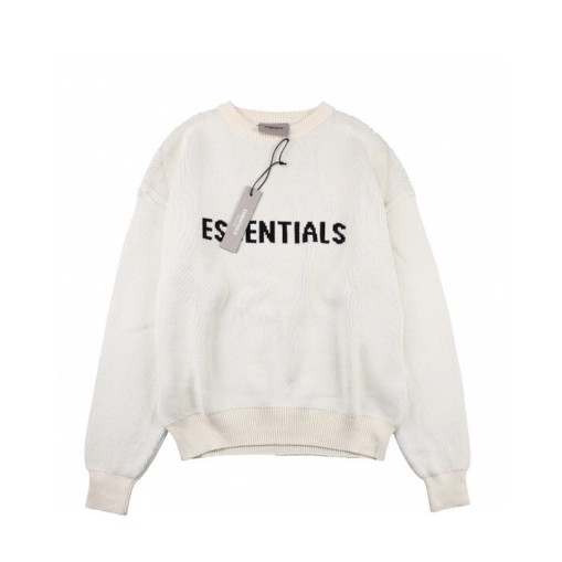 Fear of god essentials double line sweater beige