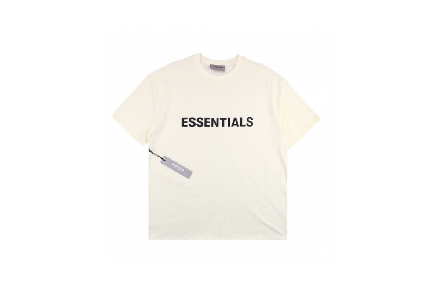 """Shirt Fear Of God ss20 ESSENTIALS double-line chest letter short-sleeved T-shirt """"White"""" 1 fear_of_god_ss20_essentials_double_line_chest_letter_short_sleeved_t_shirt_white_1"""