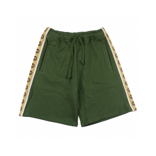 Gucci 2020ss side reflective webbing shorts Olive Green