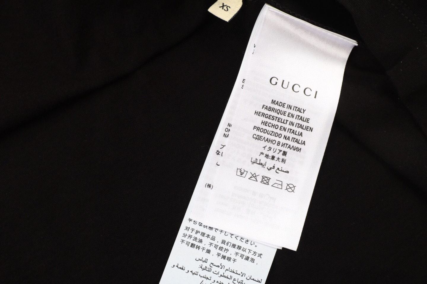 Shirt Gucci 20ss Jerry holding pineapple short-sleeved T-shirt black 3 gucci_20ss_jerry_holding_pineapple_short_sleeved_t_shirt_black__3