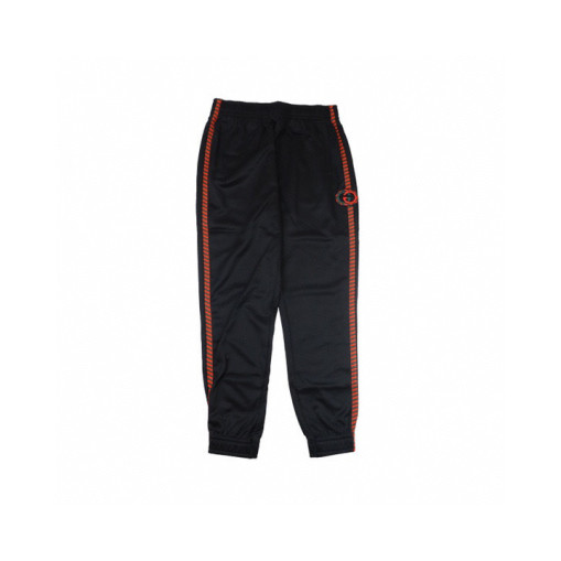 Gucci colorful braid rolled webbing trousers