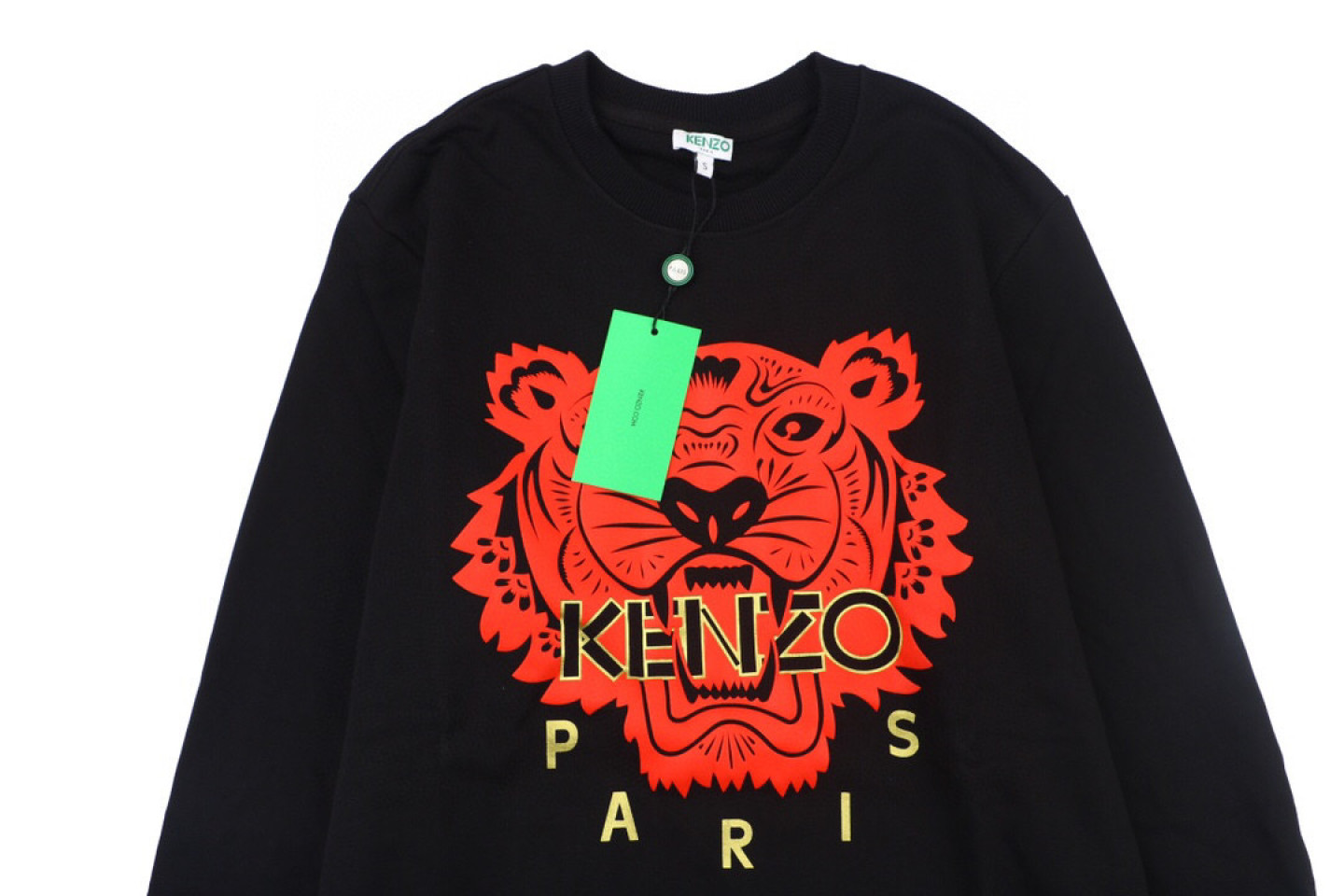 Shirt Kenzo black gold and red tiger head sweater 2 kenzo_black_gold_and_red_tiger_head_sweater_2