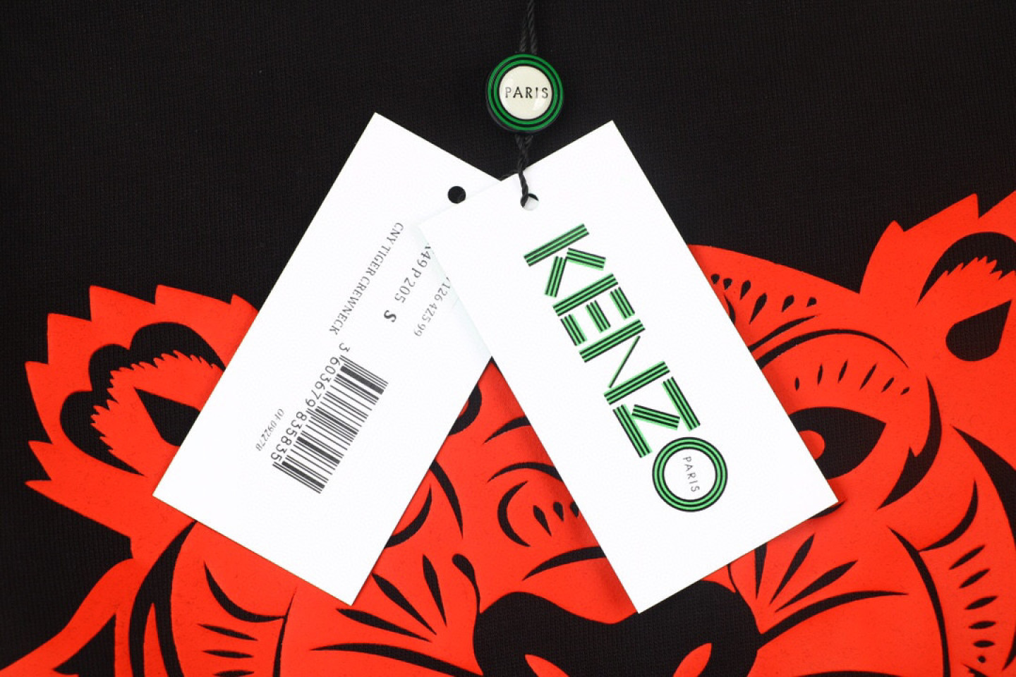 Shirt Kenzo black gold and red tiger head sweater 3 kenzo_black_gold_and_red_tiger_head_sweater_3