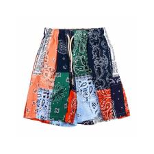 Loewe 19ss color cashew flower stitching shorts