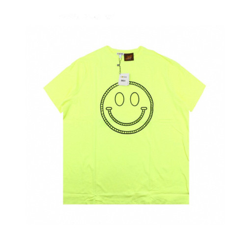 LOEWE x SMILEY 20ss fluorescent smiley short sleeve Tshirt yellow