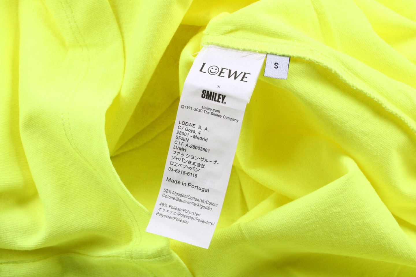 Shirt LOEWE x SMILEY 20ss fluorescent smiley short sleeve T-shirt yellow 4 loewe_x_smiley_20ss_fluorescent_smiley_short_sleeve_t_shirt_yellow_4