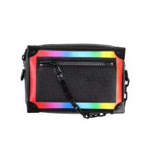 Louis Vuitton Soft Trunk Taiga Mini BlackRainbow