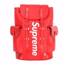 Louis Vuitton x SUPREME Bagpack Red