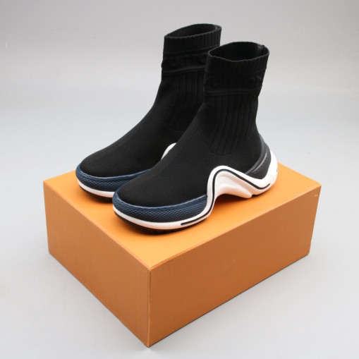 Lv Archlight Sneaker Boot Black  Blue