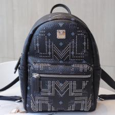 MCM Stark Backpack Gunta M Studs Visetos Black