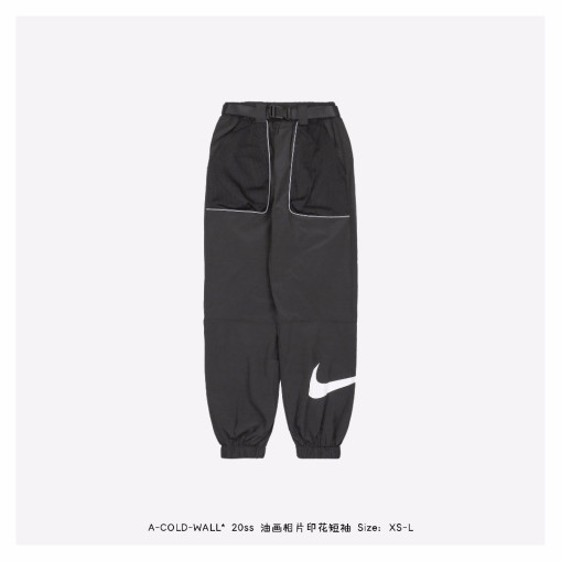 Nike 20ss 3M large pocket sports casual trousers Black