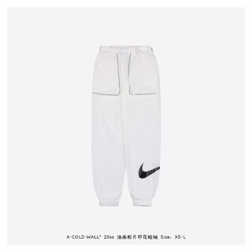 Nike 20ss 3M large pocket sports casual trousers Whte