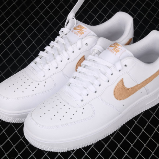 Nike Air Force 1 Low Pony Hair Snakeskin Club Gold