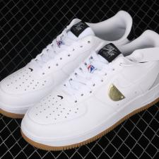 Nike Air Force 1 Low X NBA White Grey Gum