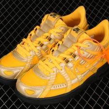 Nike Air Rubber Dunk x OffWhite University Gold