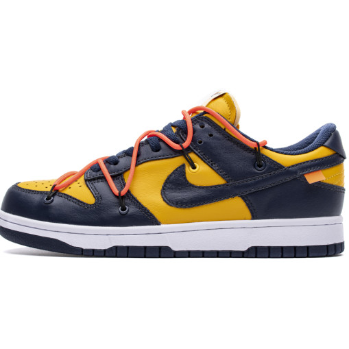 Nike Dunk x OffWhite SB Low Universty Gold