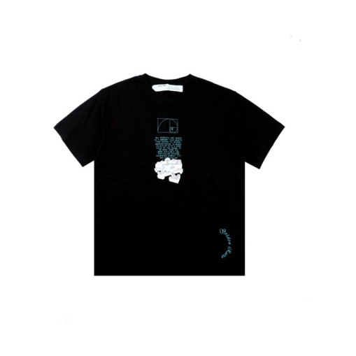 OFF WHITE 20ss Melted Arrow Print TShirt Black