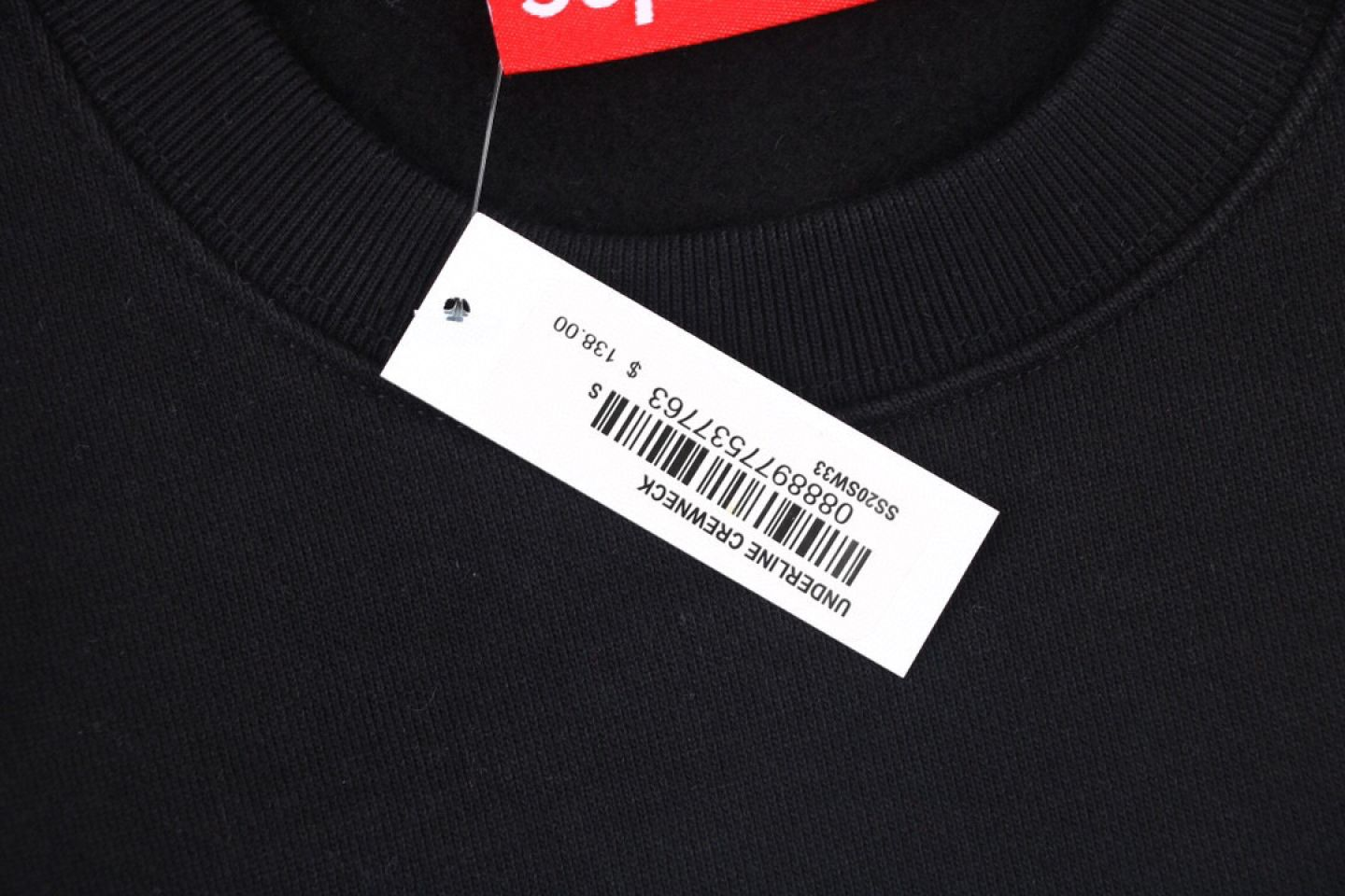 "Shirt Supreme crew neck sweatshirt with underlined logo ""Black"" 3 supreme_crew_neck_sweatshirt_with_underlined_logo_black_3"