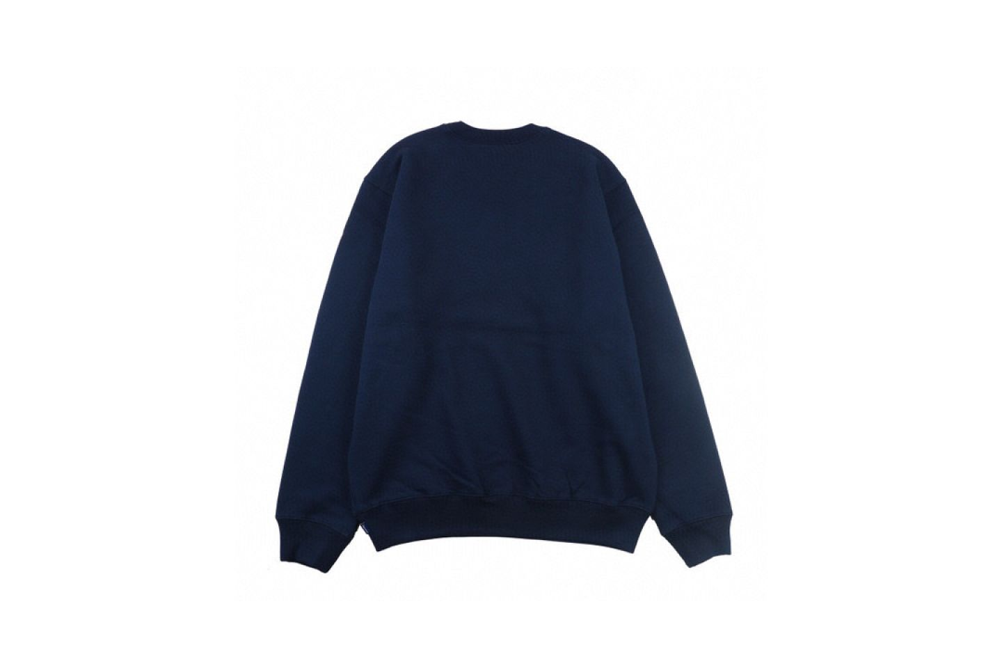 "Shirt Supreme crew neck sweatshirt with underlined logo ""Navy Blue"" 5 supreme_crew_neck_sweatshirt_with_underlined_logo_navy_blue_5"