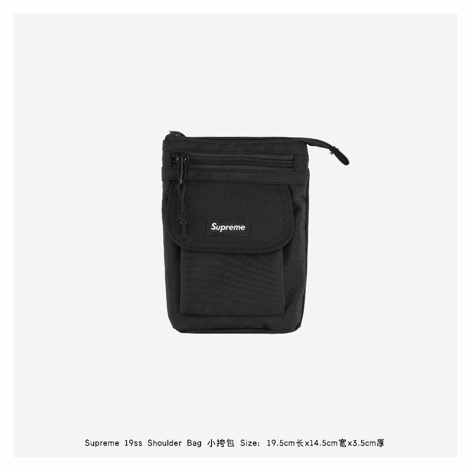 Goods Supreme Shoulder Bag (FW19) Black 1 supreme_shoulder_bag_fw19_black__1