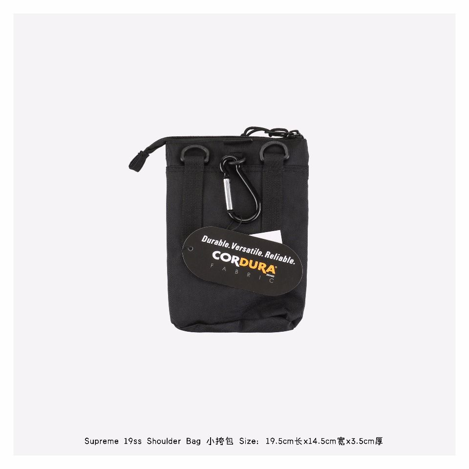 Goods Supreme Shoulder Bag (FW19) Black 5 supreme_shoulder_bag_fw19_black__5