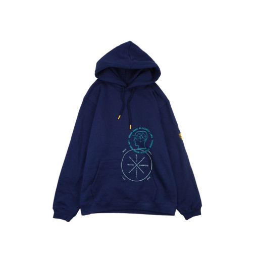 The North Face x Braindead Hoodie Navy Blue