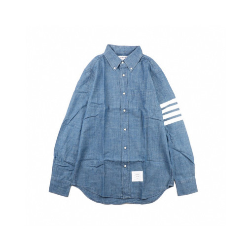 Thom Browne 20ss denim blue shirt