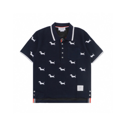 Thom Browne 20ss Puppy Embroidered Polo Short Sleeve Black