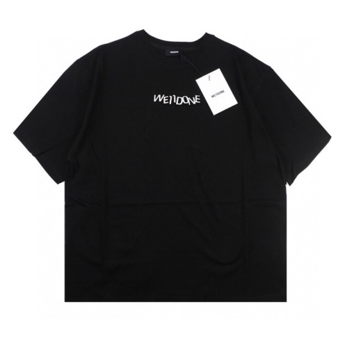 Welldone 3D printed letter short sleeve black